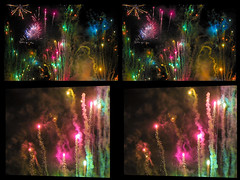 A Fireworks Display In Detail :: Cross View Stereoscopic 3D :: (Stereotron) Tags: hyperstereo 3d 3dphoto 3dstereo 3rddimension spatial stereo stereo3d stereophoto stereophotography stereoscopic stereoscopy stereotron threedimensional stereoview stereophotomaker stereophotograph 3dpicture 3dglasses 3dimage crosseye crosseyed crossview xview cross eye squint squinting freeview canon ixus960 sdm stereodatamaker europe germany saxony dresden 3dframe airtightframe fancyframe floatingwindow airtight frame spatialframe stereowindow window beautiful 492082010 chdk ixus 960 sidebyside sbs kreuzblick 100v10f