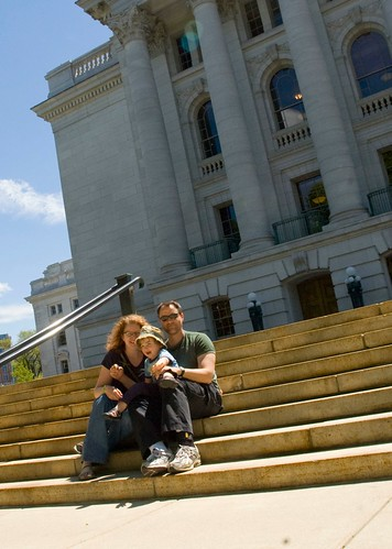 on the steps of the capitol