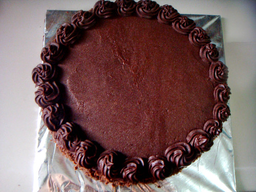 Chocolate Blackout Cake - Top