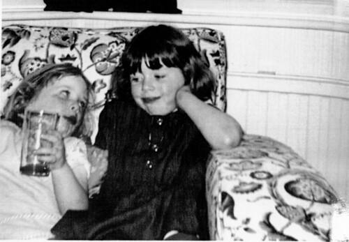 Sara and Victoria Rolfe Edinburgh 1966