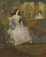 Conder, Charles (1868-1909) - 1895-1901 Women in the Theater Foyer (National Gallery of Australia) (RasMarley) Tags: english interior group 19thcentury australia painter figure impressionism 1890s 1895 conder charlesconder womeninthetheaterfoyer
