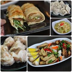 肉兒餡-高麗菜, 海鮮兒餡-草蝦仁 & 豬肉捲餅