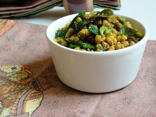 dry gujarati mung bean curry