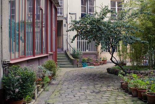 Cour intérieure de la rue Amelot