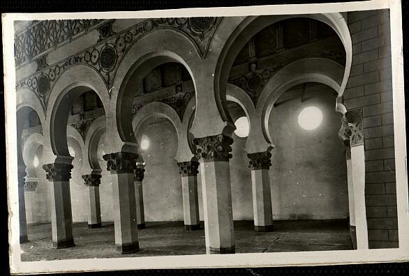 Sinagoga de Santa María la Blanca a comienzos del siglo XX. Foto HAE