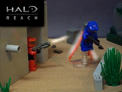Halo Multiplayer Beta FX (Test) (Vengeance of Lego) Tags: blue red 2 3 1 lego 5 4 jet halo beta pack reach spartan odst