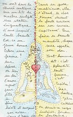 """MOLESKINE """"Dual heart"""" (Framboisine Berry) Tags: blue france moleskine yellow yoga ink notebook french star berry poetry tears heart body journal frenchpoetry yan dual draw yin gauthier théophile poetrydrawing framboisineberry"""