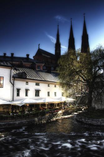 Uppsala. La catedral desde el río