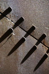 A riveting shot (The Green Album) Tags: abstract lines metal architecture point rivets shadows decay rusty structure cast simplicity minimalism oblique crusty riveting