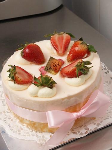 Sakura yoghurt mousse