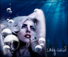 Lady GaGa- Ocean Love (Rashley Tisdale) Tags: monster lady photoshop telephone fame manipulation gaga blend