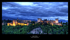 ALHAMBRA (Chikitosam) Tags: sunset espaa canon landscape andaluca spain andalucia alhambra granada bluehour andalusia hdr anochecer panormica 50d horaazul thebestofhdr chikitosam mygearandmepremium mygearandmebronze mygearandmesilver mygearandmegold