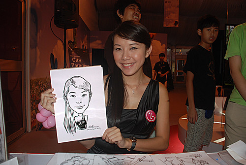 caricature live sketching for LG Infinia Roadshow - day 2 -8