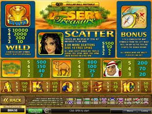 free Desert Treasure slot mini symbol
