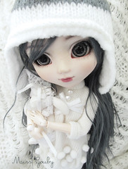 Emotional blackmail (Miss G...) Tags: winter white mountains cute rabbit outfit doll north pole pullip custom bhc nezumi