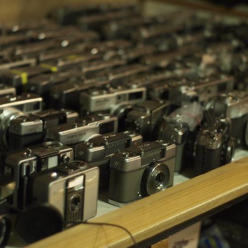 Many memorial cameras!