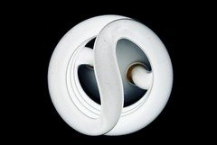 Bulb (M I T C H  L L) Tags: light white black bulb spiral nikon energy bright 55mm saving d3000