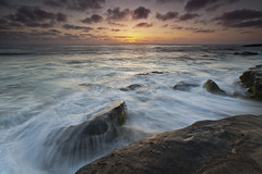 Close to the edge (D Breezy - davidthompsonphotography.com) Tags: california sunset seascape storm night clouds canon rocks waves sandiego lajolla pacificocean memorialday 1740l windandsea 1740mml singhrayfilter 5dmarkii canon5dmarkii 3stopreversegnd