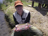 Leslie with a dry fly trophy 'bow