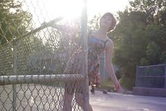 159/365 (malaca11) Tags: road light portrait sun girl self fence dress 365days