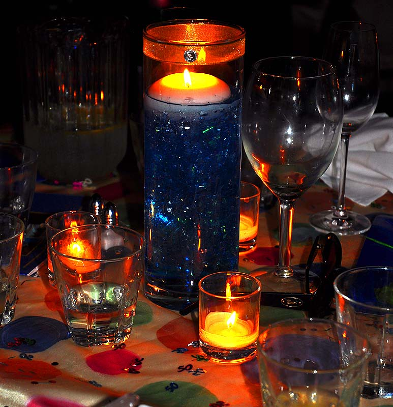 Candles and Glassware