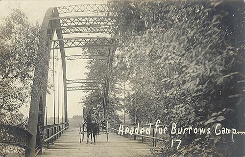 Headed for Burrow's Camp Over Dunn's Bridge, 1914