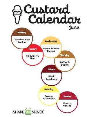 Shake Shack June 2010 calendar