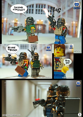 Bank Assault 1 (Shobrick) Tags: book amazing comic lego bank weapon armory custo robbers gign brickarms brickforge