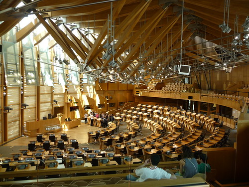 Inside Scottish Parliament, Edinburgh