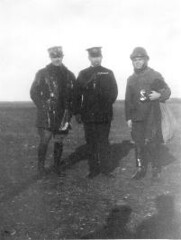 Major Fiorello La Guardia poses with two other aviation enthusiasts: Captain Poggi of the Italian Army and (center) Isoroku Yamamoto of the Japanese Navy, 1918.  Yamamoto was the architect of the carrier-based aircraft attack on Pearl Harbor. (La Guardia and Wagner Archives) Tags: aviation laguardia fiorellolaguardia fiorello thelittleflower pearlharborattack mayorlaguardia isorokuyamamoto