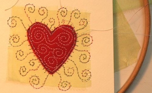embroidered greeting card by cliodhna