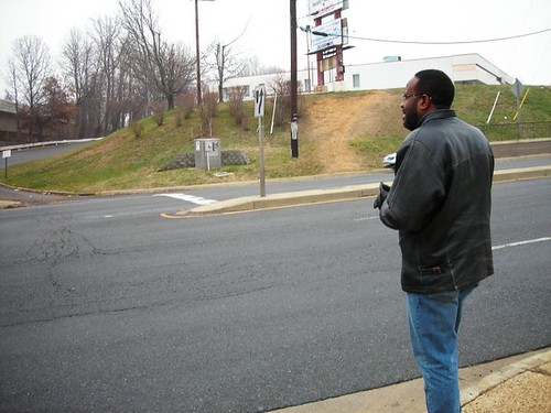 contemplating a safe way out of the Naylor Road Metro (by: Cheryl Cort)