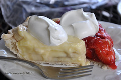 Almost like a banana split (moorepix4u2c) Tags: strawberry banana bananacreampie strawberrypie anawesomeshot iateboth