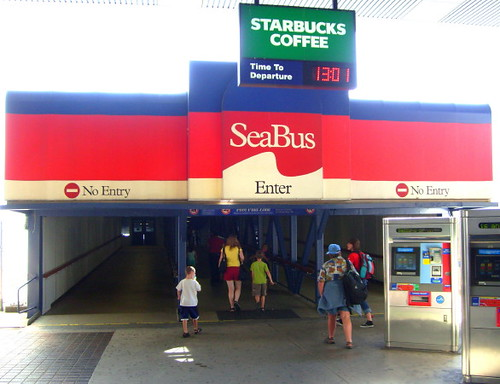 Seabus Terminal in North Vancouver that will take passengers back to the Waterfront Skytrain Station in Vancouver