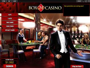 Box24 Casino Lobby