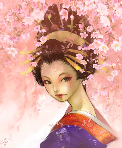 Oiran (Weeping cherry version)