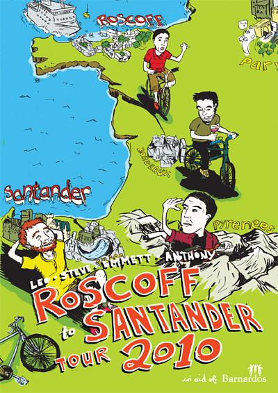 Roscoff - Santander Cycle Poster