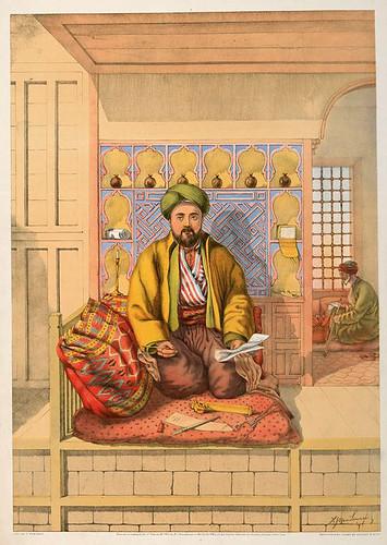 003-Escriba turco-The oriental álbum 1862- J.H. Van Lennep