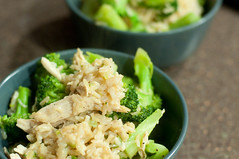 Donburi w/ chicken and broccoli in a butter miso sauce