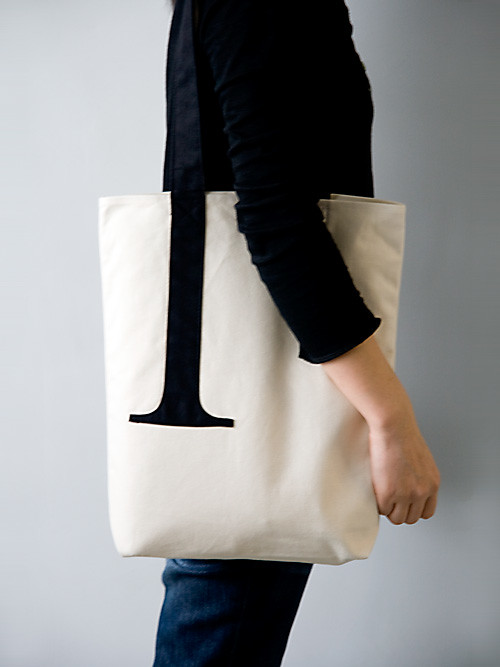 Little Factory typography totebag