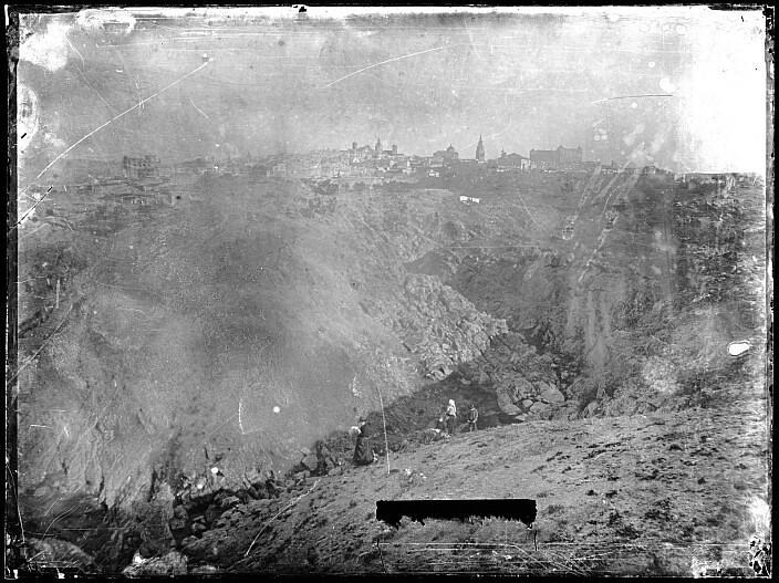Toledo hacia 1880. Fotografía de Casiano Alguacil. Ayuntamiento de Toledo