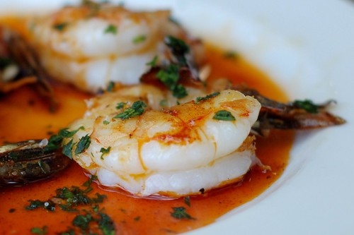 Gambas a la plancha with smoked paprika and sea salt