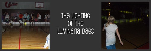 Luminaria bags Relay for Life