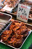 Yummy ? (Teruhide Tomori) Tags: travel japan shop store kyoto market traditional fresh 京都 日本 bazar 関西 市場 町並み 錦市場 近畿