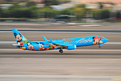 Is Everybody Happy? - McCarran Int'l Airport, NV  USA (gTarded) Tags: las goofy alaska mouse airport lasvegas disneyland disney mickey characters pluto pan boeing minnie asa airlines walt takeoff donaldduck klas mccarran 737 b737 n318as