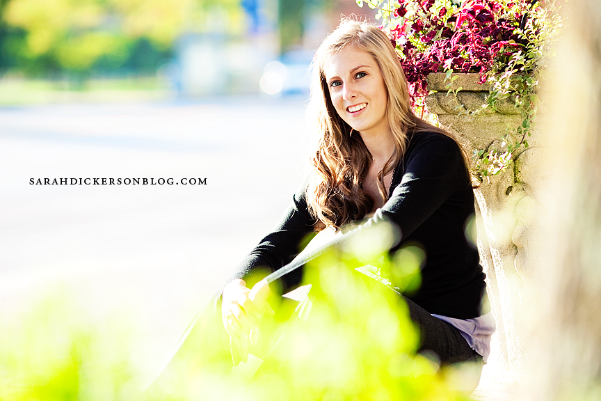 Country Club Plaza and Loose Park senior portraits