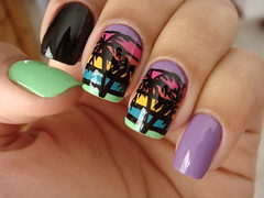 sunset :D (JaneBar) Tags: pink sunset art nail essence nailart unha esmalte