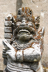 None shall pass (Arne Kuilman) Tags: portrait face statue temple god deity guardian tamblingan