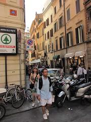 ROM_049 : Space Invader in Roma (tofz4u) Tags: street people streetart rome roma sign tile italia mosaic spaceinvader spaceinvaders invader rue panneau italie passant mosaque artderue japanesetourist rom049