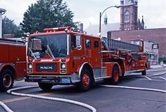 BrooklineFD L2 MainStWatertown 7-19-1987gwt (ironmike9) Tags: fire engine ladder apparatus brooklinema